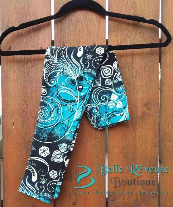 Blue Swirl Leggings
