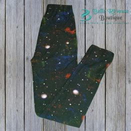 kids outer space leggings on wood