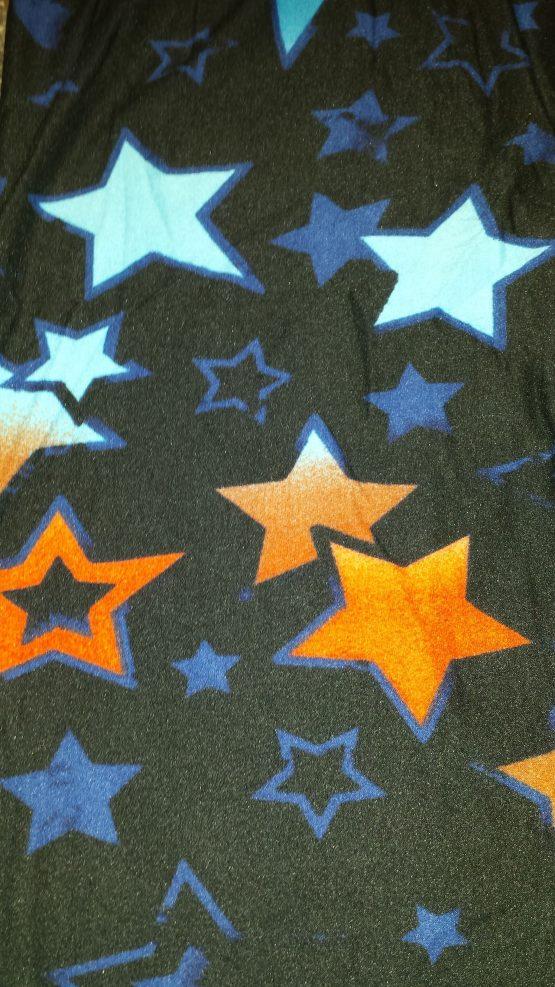Blue Star Print Closeup