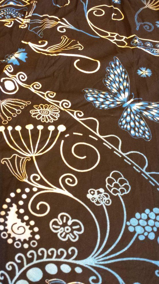 blue ombre leggings print closeup