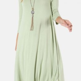 Midi Dress 3/4 Sleeve