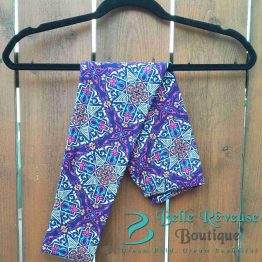 Colorful Purple Ethnic Print Leggings