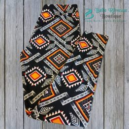 Plus Size Aztec Leggings