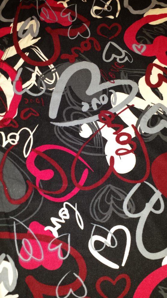 love hearts print close up