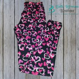 heart leggings Valentine leggings