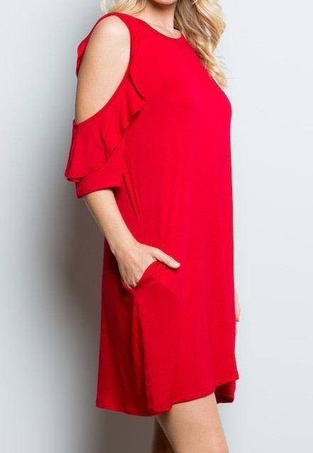 Ruffle Sleeve Dress Side View