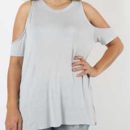 Cold Shoulder Plus Size Top