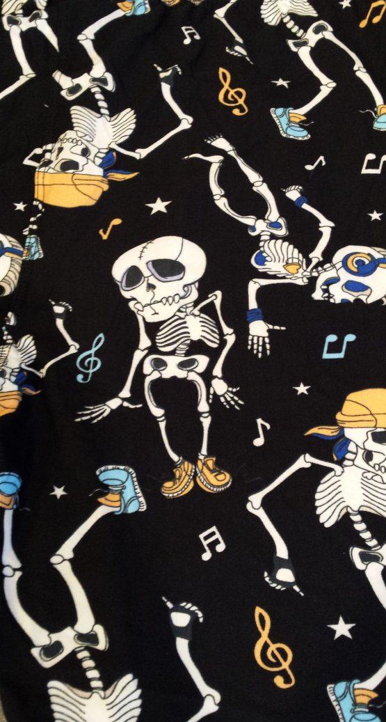 Skeleton Dance Print Closeup