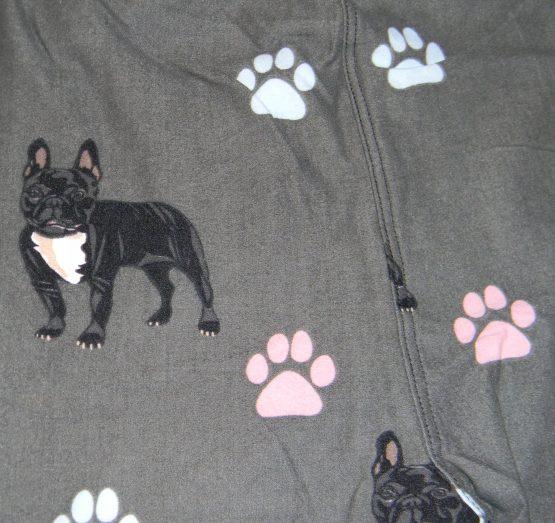 French Bulldog Leggings Print Closeup