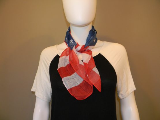 american flag scarf fit