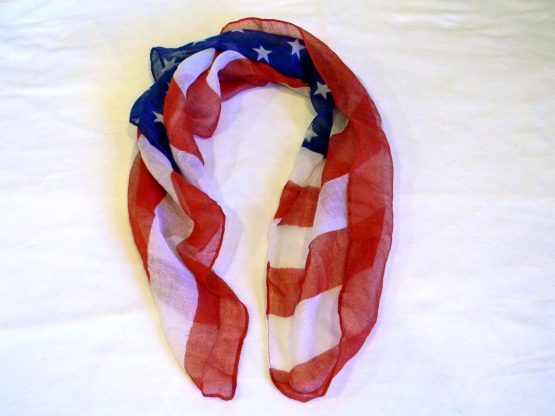 Red White and Blue Flag Scarf
