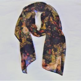 black floral scarf-oblong