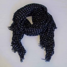 black & white squares scarf-large square