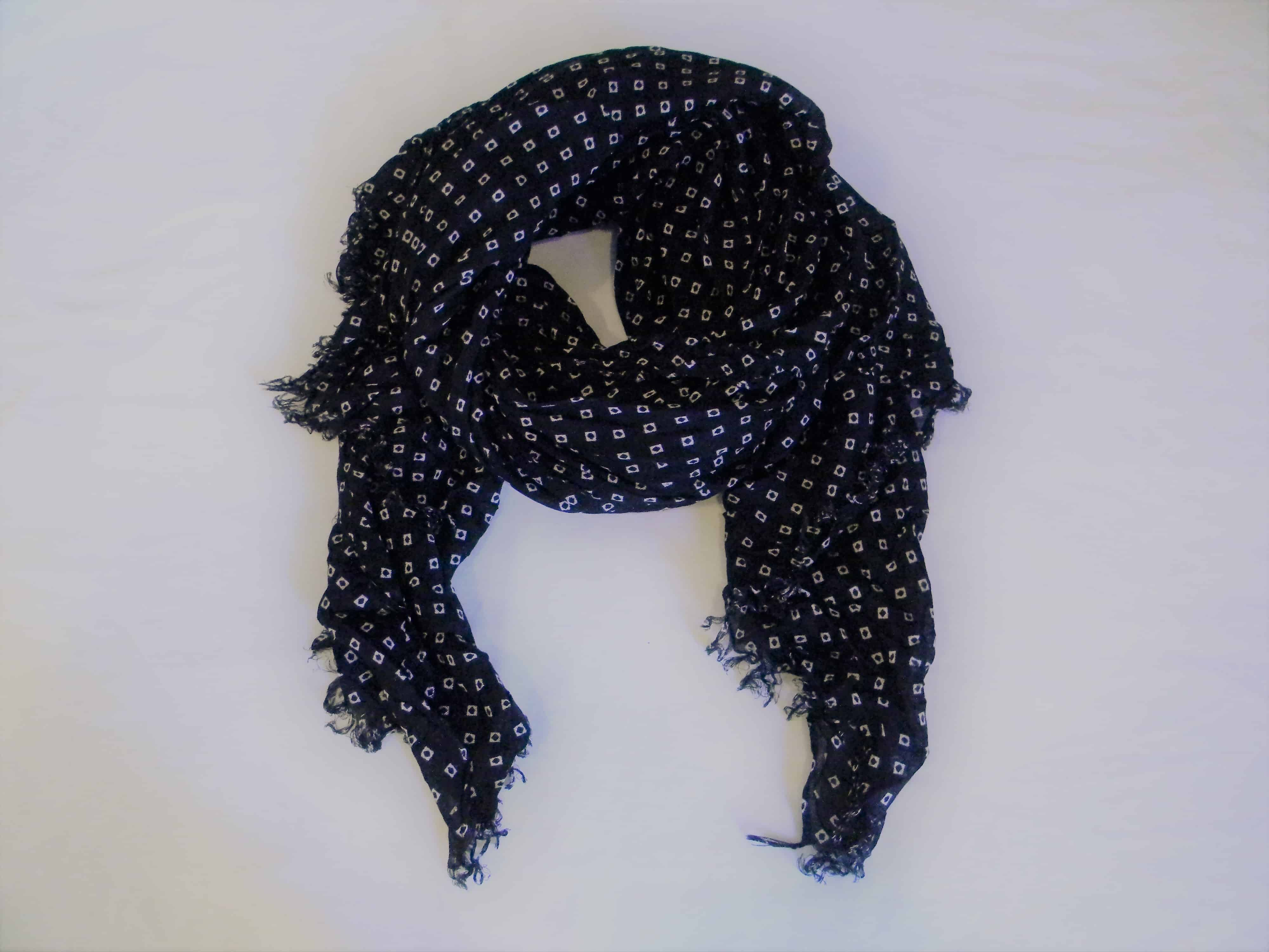 93a18466fc61 Black   White Squares Large Scarf