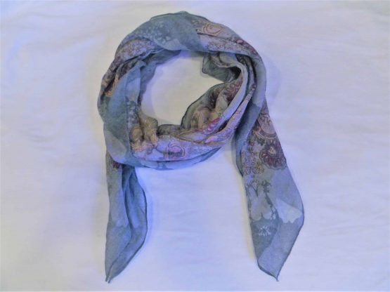 Pink and Gray Scarf