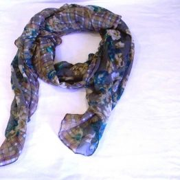 grey fashion scarf