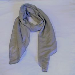 grey pink polka dot scarf-oblong