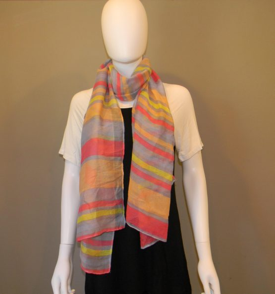 Striped Summer Scarf Fit