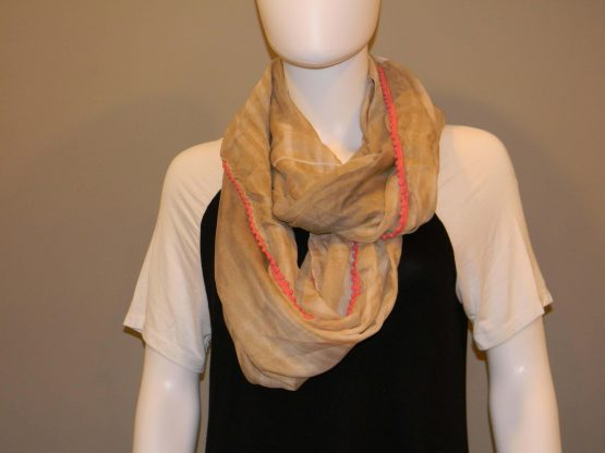 Tan Infinity Scarf Fit