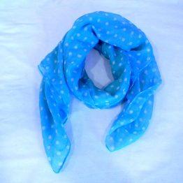 blue polka dot scarf-square