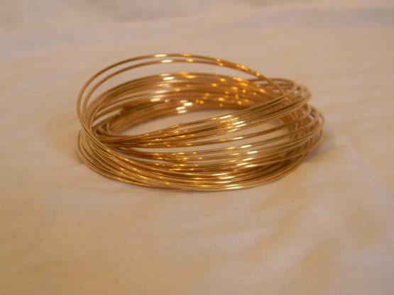 gold linked bangle bracelet