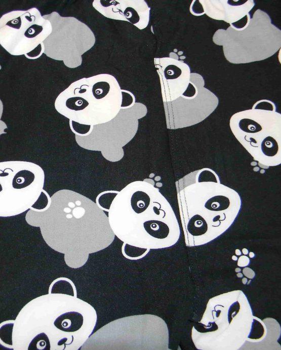 Panda Face Print Closeup