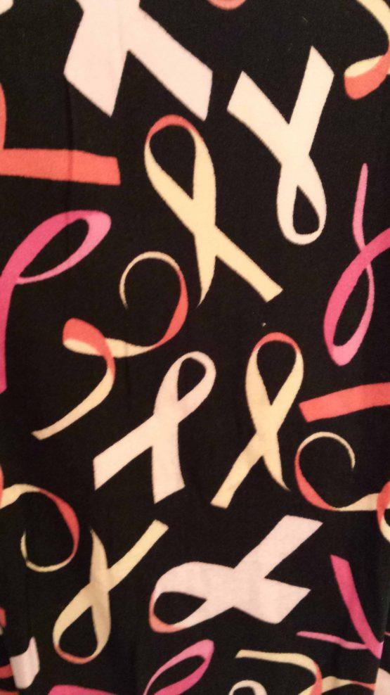 Breast Cancer Awareness Leggings Closeup