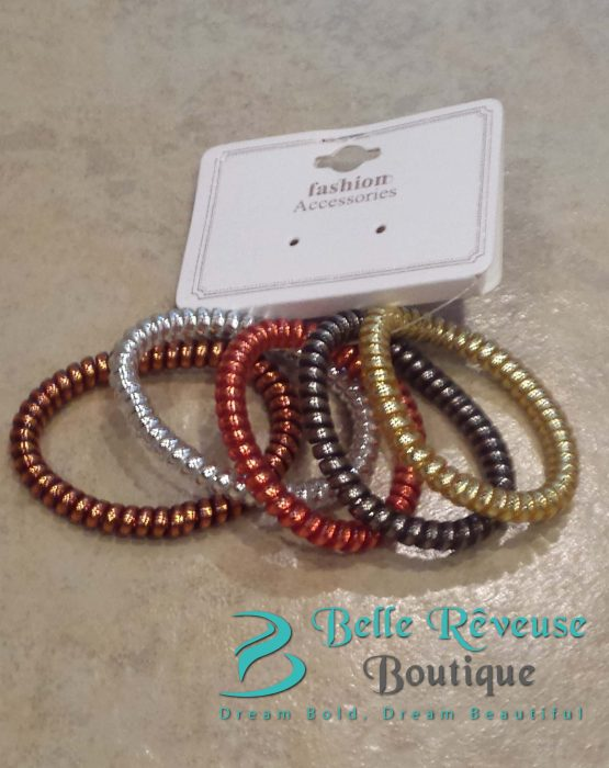 Autumn Phone Cord Hair Tie Bundle