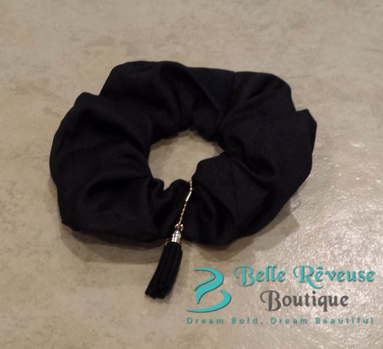 Black Tassel Scrunchie