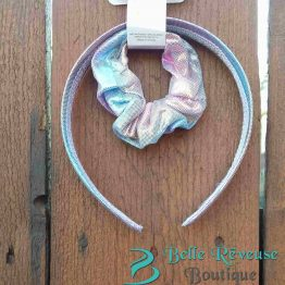 Headband and Ponytail Holder Pastel