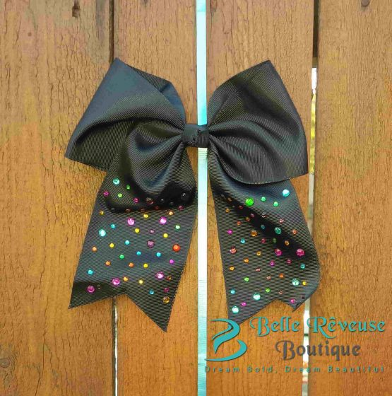 Oversized Bows for Hair - Black Gem