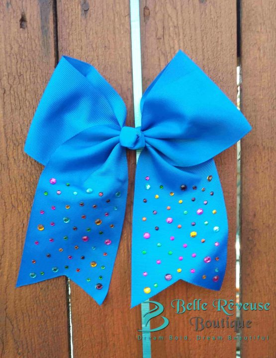 Oversized Bows for Hair - Blue Gem