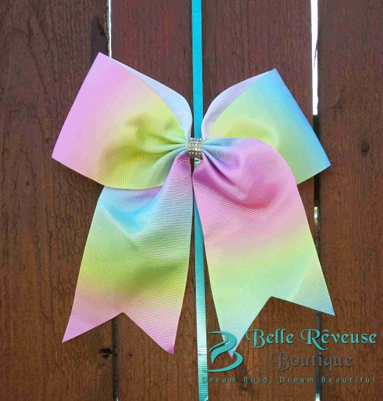 Oversized Bows for Hair - Multi-Colored Pastel