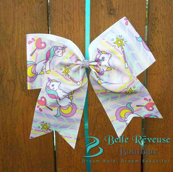 Oversized Bows for Hair - Unicorn Wand