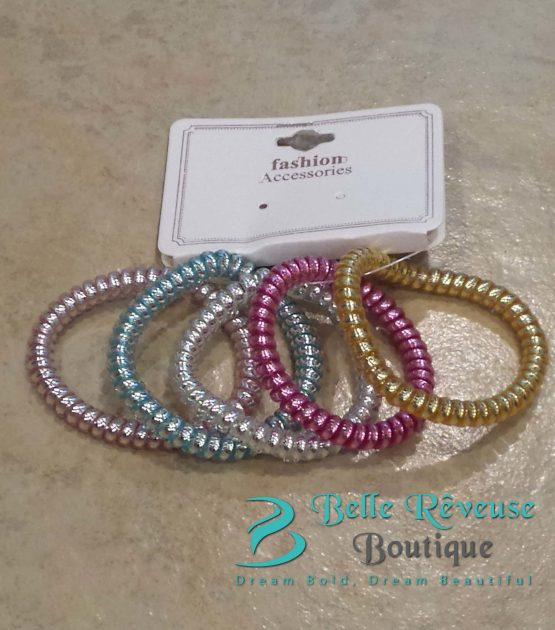 Pastel Phone Cord Hair Tie Bundle
