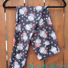 Christmas Hippopotamus Leggings