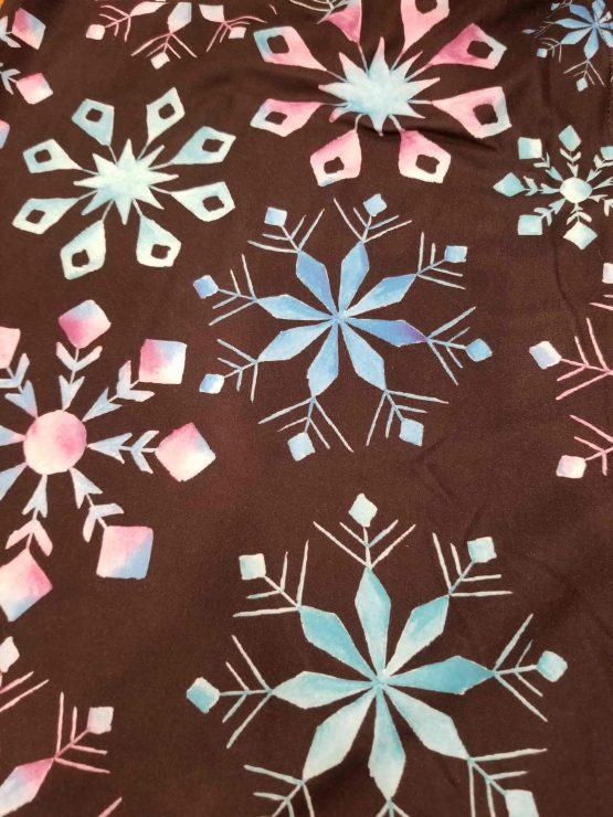 Colorful Snowflakes Print Close Up