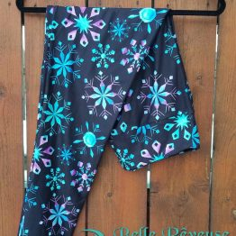 Colorful Snowflakes Print Leggings