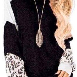 Leopard Sleeve Shirt