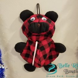 Christmas Stocking - Red Buffalo Plaid & Black