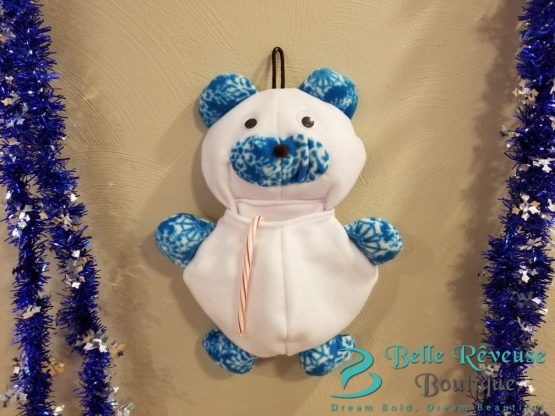 Unique Stockings for Christmas-White & Blue Snowflake
