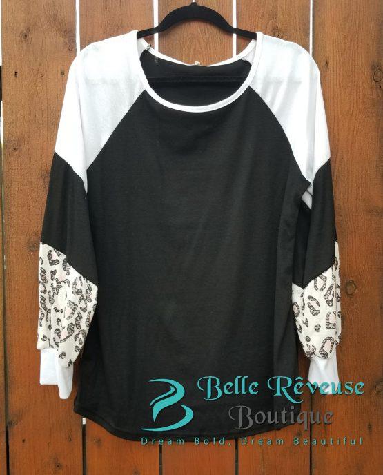 Leopard Sleeve Shirt