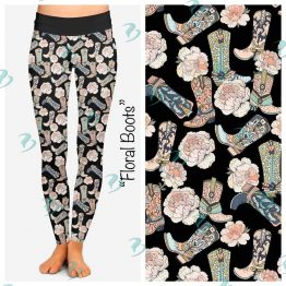 Floral Boots Leggings