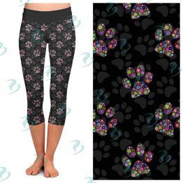 Floral Paw Print Leggings