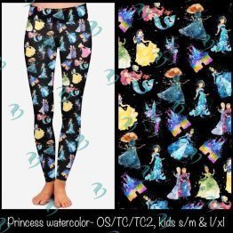 Disney Princess Watercolor Leggings