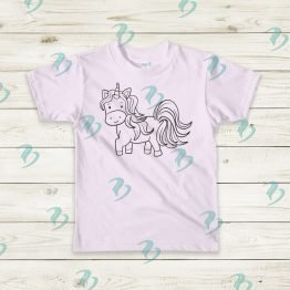 Color Your Own Unicorn Graphic Shirt
