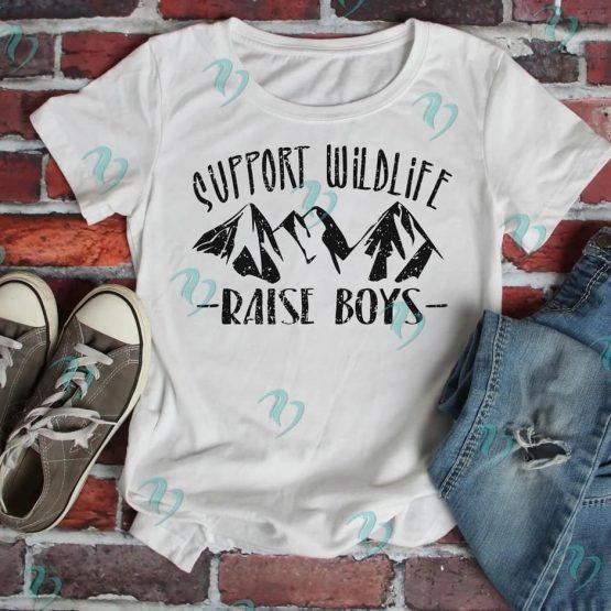 Support Wildlife Raise Boys Graphic Shirt