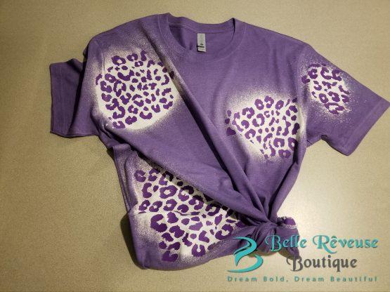 Purple Leopard Print Graphic Shirt