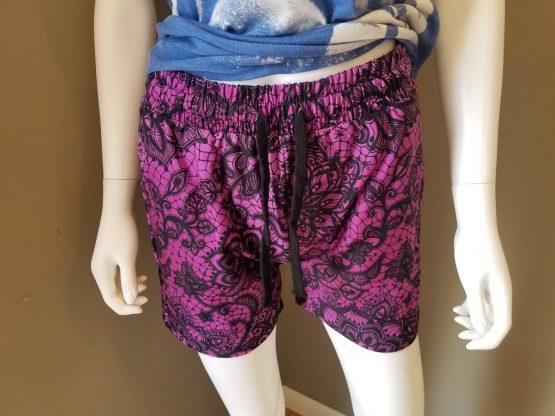 Purple Lace Shorts Fit