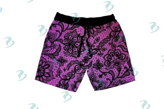 Purple Lace Shorts Mockup